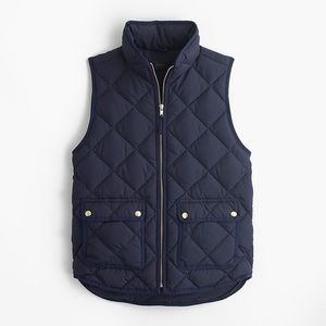 "J. Crew ""Excursion"" Quilted Down Vest"